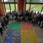 La fresque de 80 participants