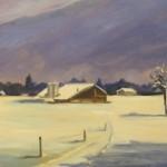Campagne en neige