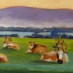 Le repos des 5 vaches
