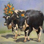 Duo de vaches noires